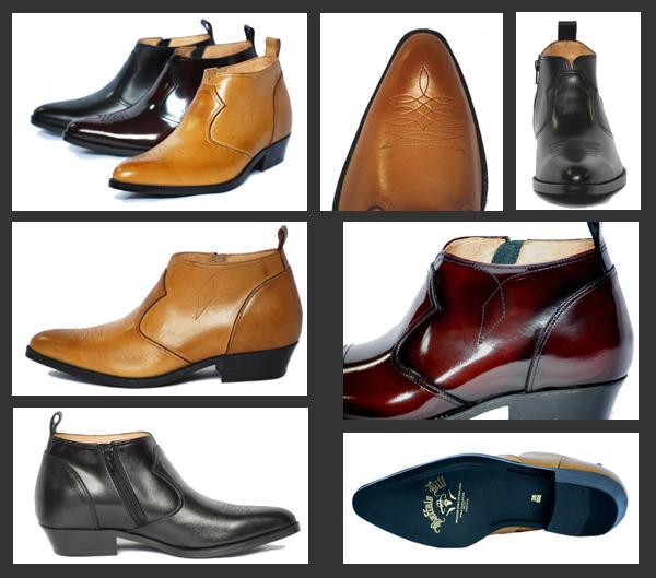 888 ウエスタンハーフブーツ 詳細 シークレットブーツの革靴本舗